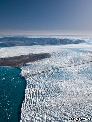 Greenland glacier (Image: AAAS/Science/Ian Joughin)