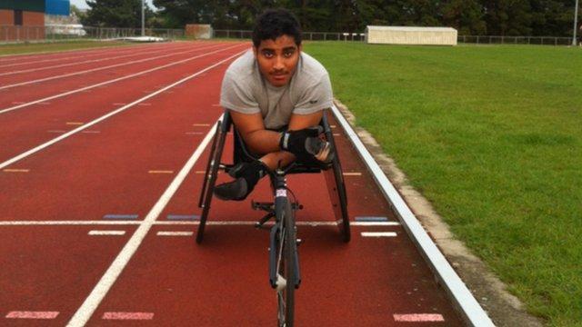Wheelchair athlete Sheikh Sheikh