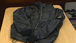 Mr Monaghan's jacket
