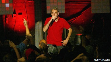 Adam Yauch on stage in 2004