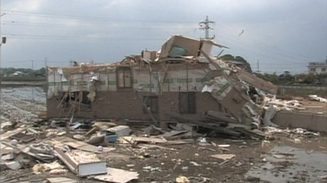 The aftermath of the tornado
