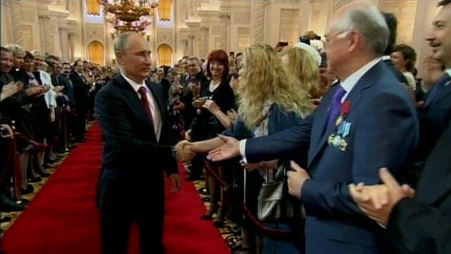 Vladimir Putin at ceremony