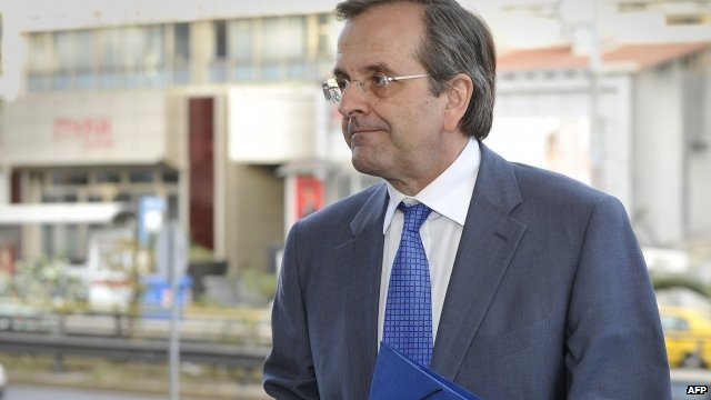 Antonis Samaras, New Democracy party leader