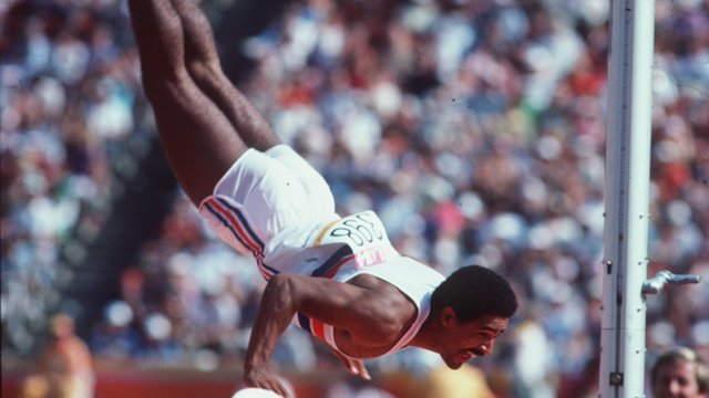 1984 Los Angeles decathlon winner Daley Thompson