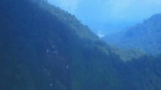 Crash scene on Mount Salak
