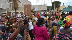 Guinean protesters