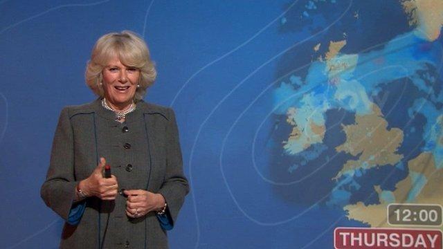 Camilla presents the weather