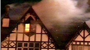 Hen adeilad Gwesty'r Grange yn Y Rhyl wedi digwyddiad 2008