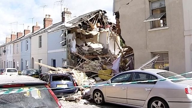 The house after the blast