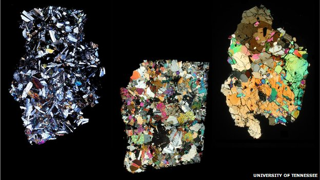 Crystal structure in HED meteorites