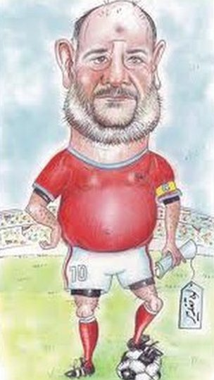 Mahmoud Shokrayeh's cartoon of Ahmad Lotfi Ashtiani