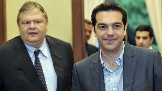 Evangelos Venizelos and Alexis Tsipras