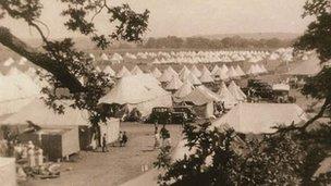Basque children's temporary camp