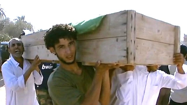 Civilian burial in Libya