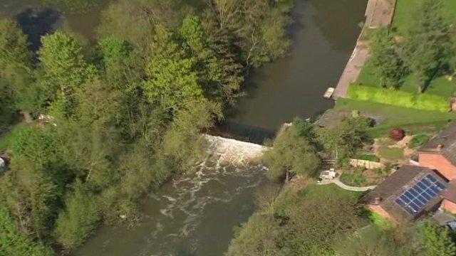 River Avon weir
