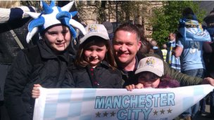 Anthony Tebb with daughters Chloe, 8, Aimee, 6, and Katie, 4