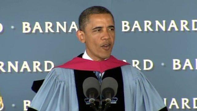 President Barack Obama speaks at Barnard's commencement 14 May 2012