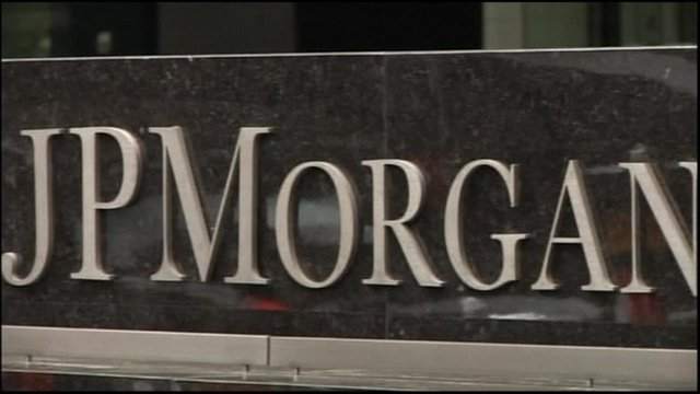 JP Morgan sign in New York