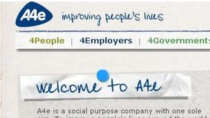 A4e website detail
