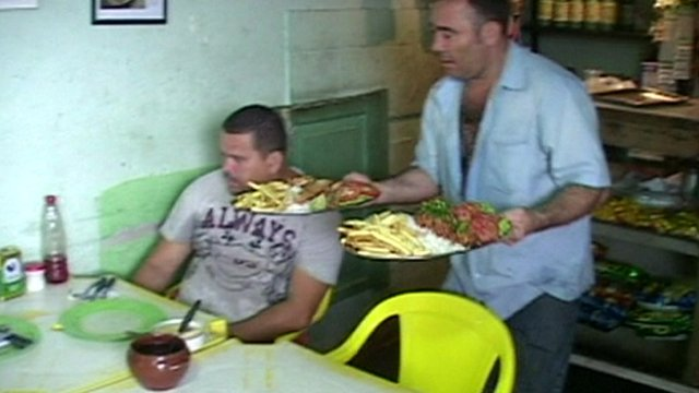 A restaurant in a favela in Rio