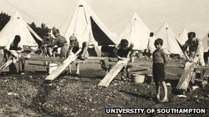 Southampton refugee camp