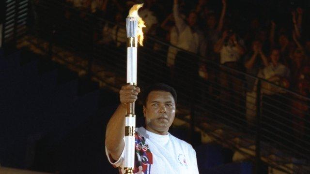 Muhammad Ali lights Olympic flame at 1996 Atlanta Games