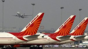 Tails of Air India aircraft