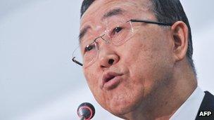 The UN Secretary General Ban Ki-moon - May 2012