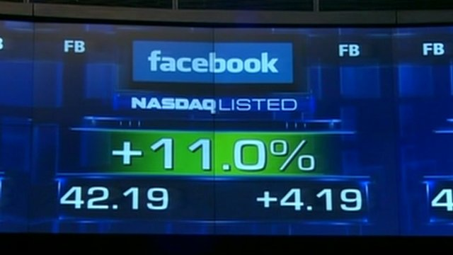 Facebook's trading status after launch