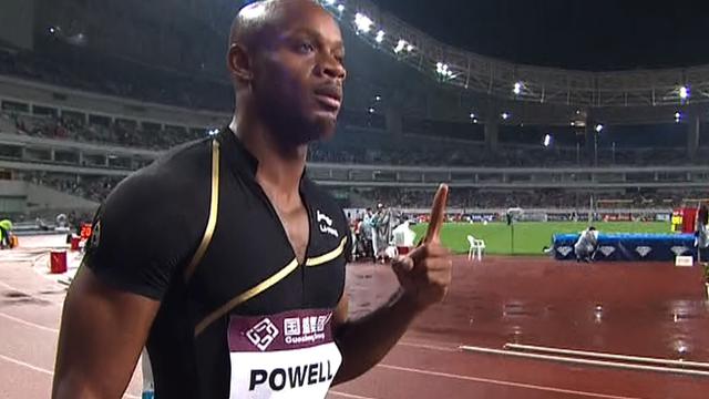 Jamaican sprinter Asafa Powell