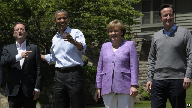 World leader at G8 summit