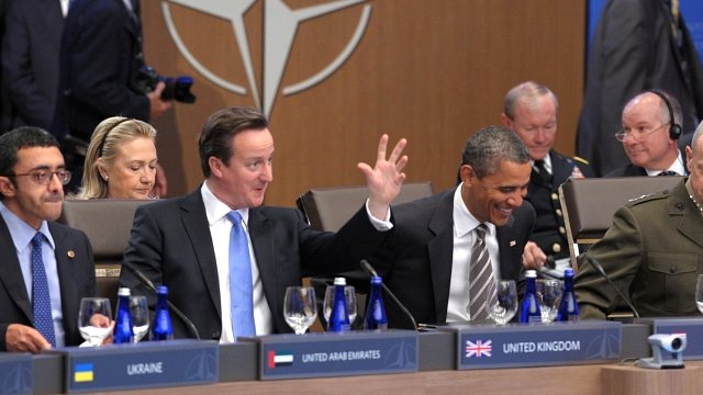 Prime Minister David Cameron and President Obama at the Nato summit in Chicago