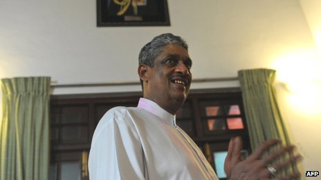 Sarath Fonseka after his release from jail in May 2012