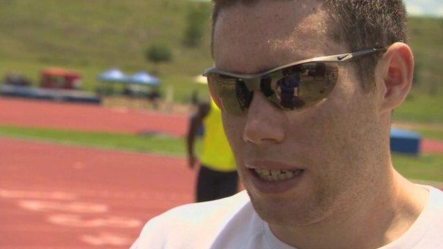 Jason Smyth was .06secs outside the Olympic 100m on Saturday