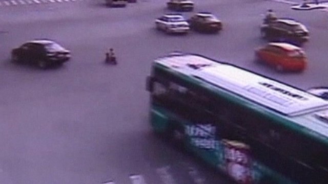 Footage captured by CCTV in China