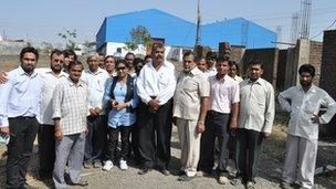 Kalpana with factory staff
