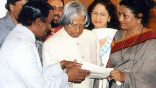 Kalpana Saroj with former president Abdul Kalam