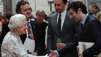 The Queen with Tom Hiddleston and Michael Sheen