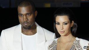 Kanye West in Cannes with girlfriend Kim Kardashian