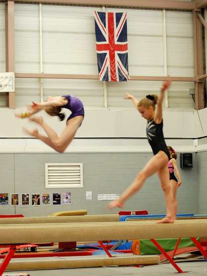 Bbc News London 2012 City Of Liverpool Gymnasts In Training