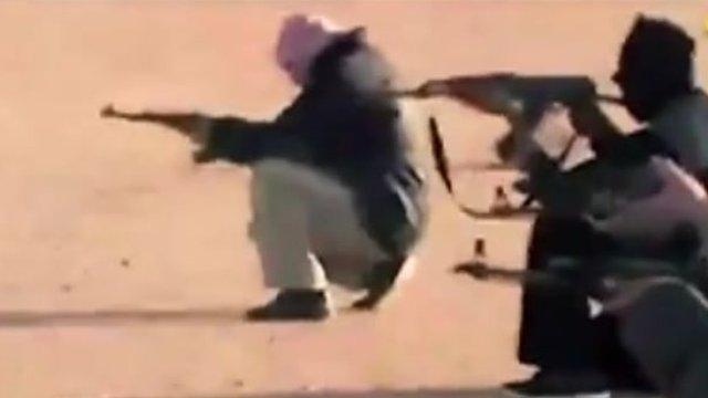 Jihadis holding guns