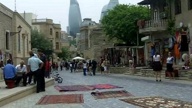 Carpets on display in Azerbaijan