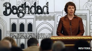 EU foreign policy chief Catherine Ashton speaks in Baghdad. Photo: 24 May 2012