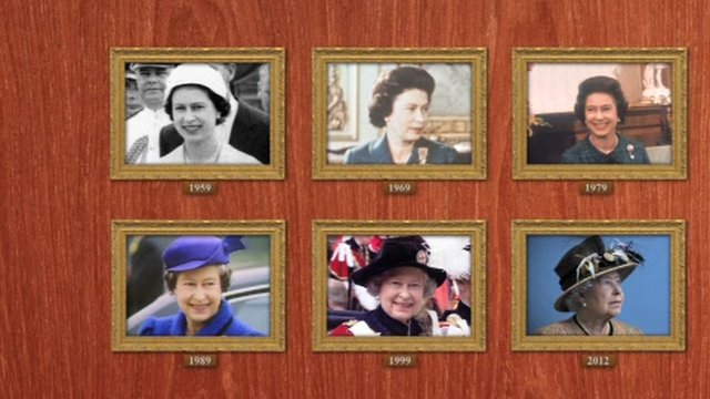 The Queen through the years