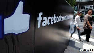 File picture of Facebook sign in Thailand