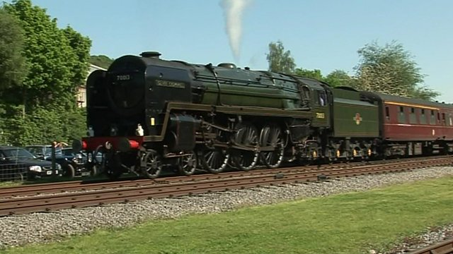 Oliver Cromwell steam locomotive