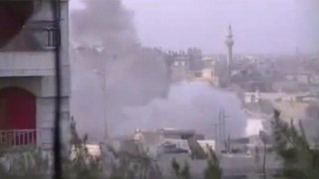 Unverified video of blast in Homs