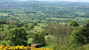 A view of the Clwydian Range from Penycloddiau