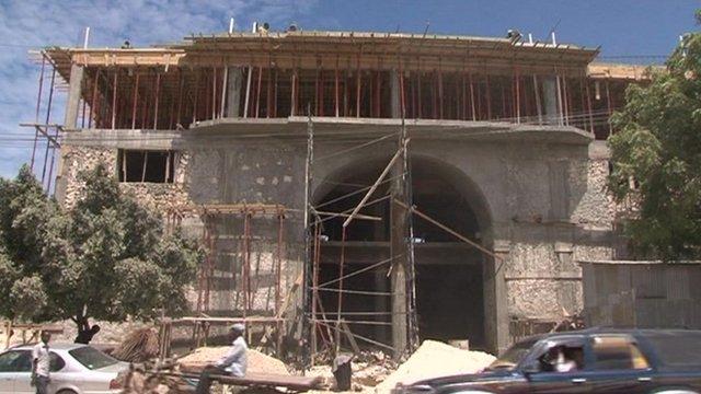 A new building being erected around Mogadishu