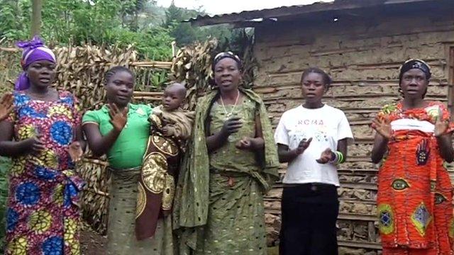 Women villagers in South Kivu, DRC